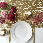 Antique Gold Chip Sequin Table Runner - Ready to ship from the UK