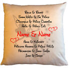 "Personalised White Cushions 18"" - Disney Couples - Style 11"