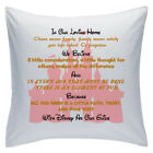 "Designed White Cushions 18"" - Disney Quotes - In Our Loving Home - Style 9"
