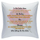 "Designed White Cushions 18"" - Disney Quotes - In Our Loving Home - Style 10"