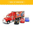 Kids Friction Power Toy Truck Transporter Van with 3 Vehicle Cars Children Gift