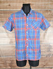 Tommy Hifiger Short Sleeve Men Check Shirt Size M, Genuine