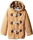 Wippette Toddler Boys Plaid Wooly Plaid Fleece Jacket Hooded Sherpa Toggle Coat