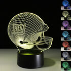New 3D illusion Rugby 7 Color LED Night Light Touch Switch Table Desk Lamp Gift