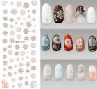 Ds370 Transfer Nails Art Sticker Grey Chirstmas Winter Nail Wraps Foil