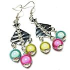 Colourful Miracle Bead Earrings, Chandelier, Studs, Clip on or 925 Silver Hooks