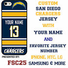 San Diego Chargers NFL Phone Case Cover for LG G6 G5 G4 HTC One m9 Moto E G X $34.98 USD