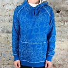 Zoo York Abstract Pullover Hooded Sweatshirt - Soverign Blue - Size: M
