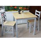 Quality Solid Wooden Dining Table and 2/4 Chairs Set Kitchen Home White Honey