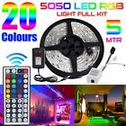 SMD 5050 RGB LED Strip Light Indoor Outdoor Lighting Rope 12V US Power Full Kit