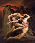 Dante and Virgil in Hell (Classic French Academic Art Print)
