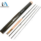 """Maxcatch Fly Rod 1/2/3wt 6' /6'6""""/7'6"""" 3/4 Piece Medium Fast with Carbon Tube"""