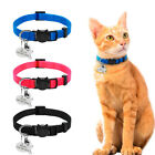"""3/8"""" wide Personalized Breakaway Safety Cat Collars with Bell Free Name Engraved"""