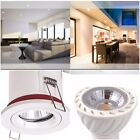 1/4/6/10/20/30 X FIRE RATED WHITE IP20 Ceiling Downlights and 5 Watt LED BULB