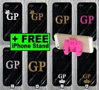 Black and Gold Glitter Marble Phone Case +FREE iPhone Stand Gold Initials Chea 7