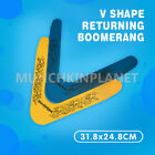 1/2/6/12PCS V shape Frisbee Boomerang Toy Outdoor Fun Kids Throwback 31.8x24.8cm