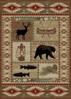 River Camp Cabin Western Rug Various Sizes and Shapes with FREE Shipping