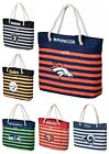 NFL Team Women's Nautical Stripe Tote Bag $23.95 USD on eBay