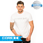 CoreX Fitness Emblem Tee - White S-XXL FAST FREE DELIVERY