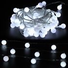 33Ft/10m Globe String Lights Mains Powered 100 LED Fairy Party Xmas Garden Lamp