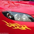 Pair Mirror Imaged Flame Fire Front Car Decal Bumper Sticker