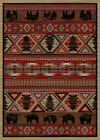 Red Pine Southwest Western Cabin Rug Various Sizes and Shapes with FREE Shipping