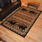 Untamed Horses Western Cabin Rug Various Sizes and Shapes with FREE Shipping