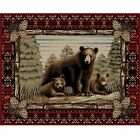 Bear Cub Cabin Rug Various Sizes and Shapes with FREE Shipping