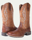 Noble 65024149 Mens Cognac All-Around Square Toe Rustic Boot FAST FREE USA SHIP