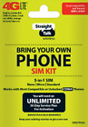 Straight Talk SIM Card  AT&T, Verizon, T-Mobile  Activation 4G LTE SIM Card kit