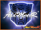 12V 3D Autobot Emblem Badge Decal Transformers LED Logo Auto Car Sticker Decor