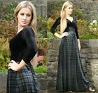 Burns Night Blue Tartan Highland Dress Velvet with Stretch Empire by MQ Cymru