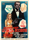 Dr No James Bond Vintage Italian Movie Poster $178.49 AUD