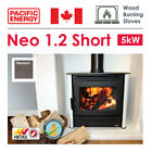 5kW Wood Burning Stove in Titanium with Optional Fan - Pacific NEO 1.2 Short