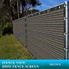 Ifenceview 6'x5'-6'x50' Brown UV Fence Privacy Screen Mesh Fabric Garden Outdoor