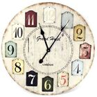 Multi color Wall Clock 40cm,60cm Shabby Chic Large Number Clock Home Decor New