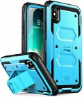 iPhone X / XS Case, i-Blason ArmorBox Cover with Tempered Glass Screen Protector