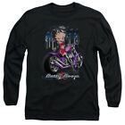 Betty Boop CITY CHOPPER Winking on Bike Licensed Adult Long Sleeve T-Shirt S-3XL $31.91 CAD
