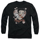 Betty Boop CLASSIC KISS Pudgy Vintage Style Adult Long Sleeve T-Shirt S-3XL $31.91 CAD