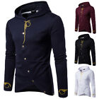 Sweatshirt Men Hooded Sweatshirt Jumper Sweater Hoodie Hoody Button Pullover