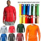 PROCLUB MEN HEAVYWEIGHT SHIRT LONG SLEEVE PRO CLUB TEE ANY COLOR T-SHIRT S-5XLT image