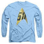 Star Trek Original Series 50TH ANNIVERSARY DELTA Blue Long Sleeve T-Shirt S-3XL