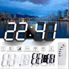 Digital LED Remote Control Large 3D Modern Wall Clock Timer 24/12 Hour Display