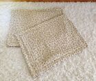 2 Standard Michael Kor 100% Cotton Quilted Pillow Shams Covers Set Lot