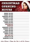 Christmas Opening Hours Poster - A4, A3, A2, A1, A0