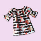 Toddler Kids Baby Girls Floral Stripe Summer Dress Princess Party Wedding Dress