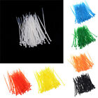 100pcs 3x100mm Nylon Plastic Colourful Cable Wire Organiser Zip Tie Cord Strap *