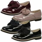 GIRLS KIDS FLATS LOW HEELS BROW RIBBON DIAMANTE LOAFERS PUMPS SCHOOL SHOES SIZE