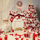 Seamless Christmas Tree Gifts Vinyl Photography Backdrop Customized Photo Decor picture