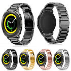 Folding Clasp Stainless Steel Watch band Strap For Samsung Gear Sport SM-R600